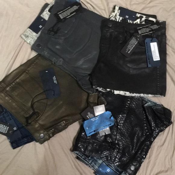 bleulab Pants - NWT bleulab reversible short booty Sz 28 choose